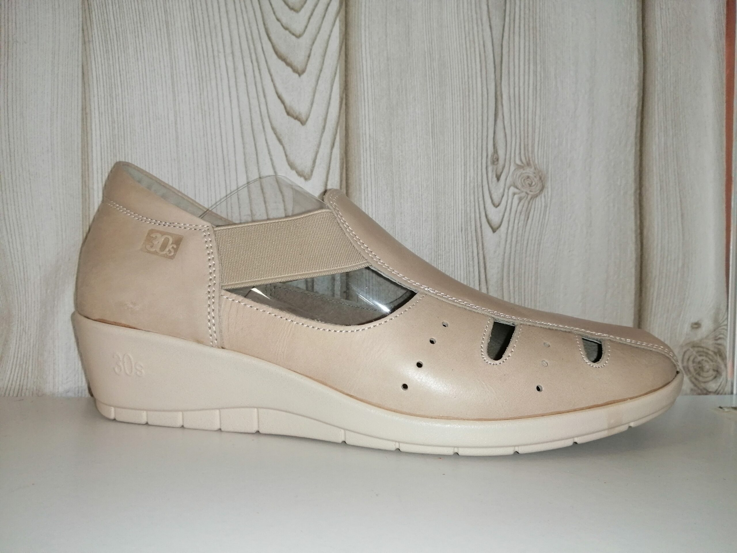 Sandalia beige piel sra especial 3186 30s