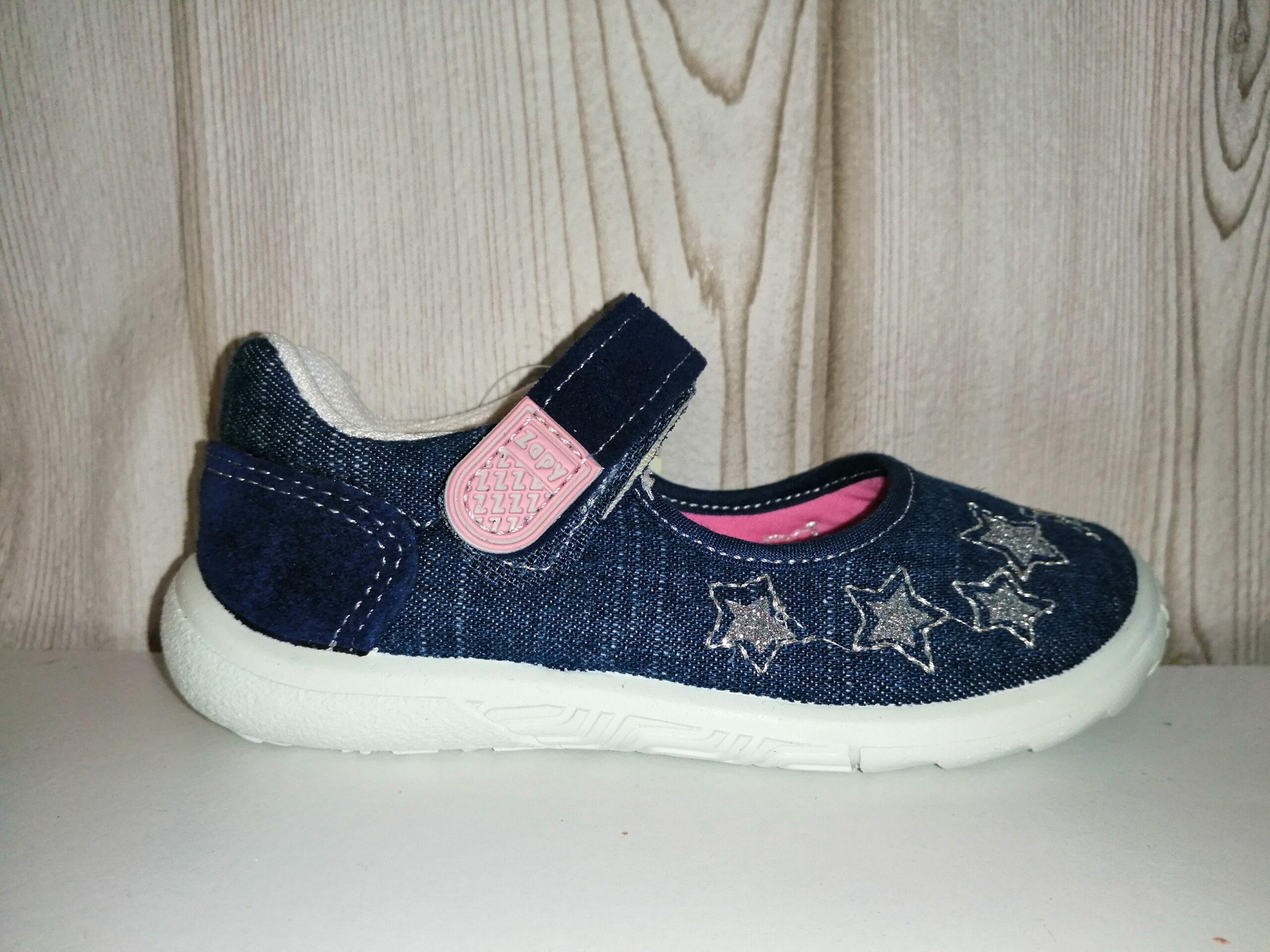 Mercedita loneta jeans niña W71473 ZAPY ESTRELLA PLATA