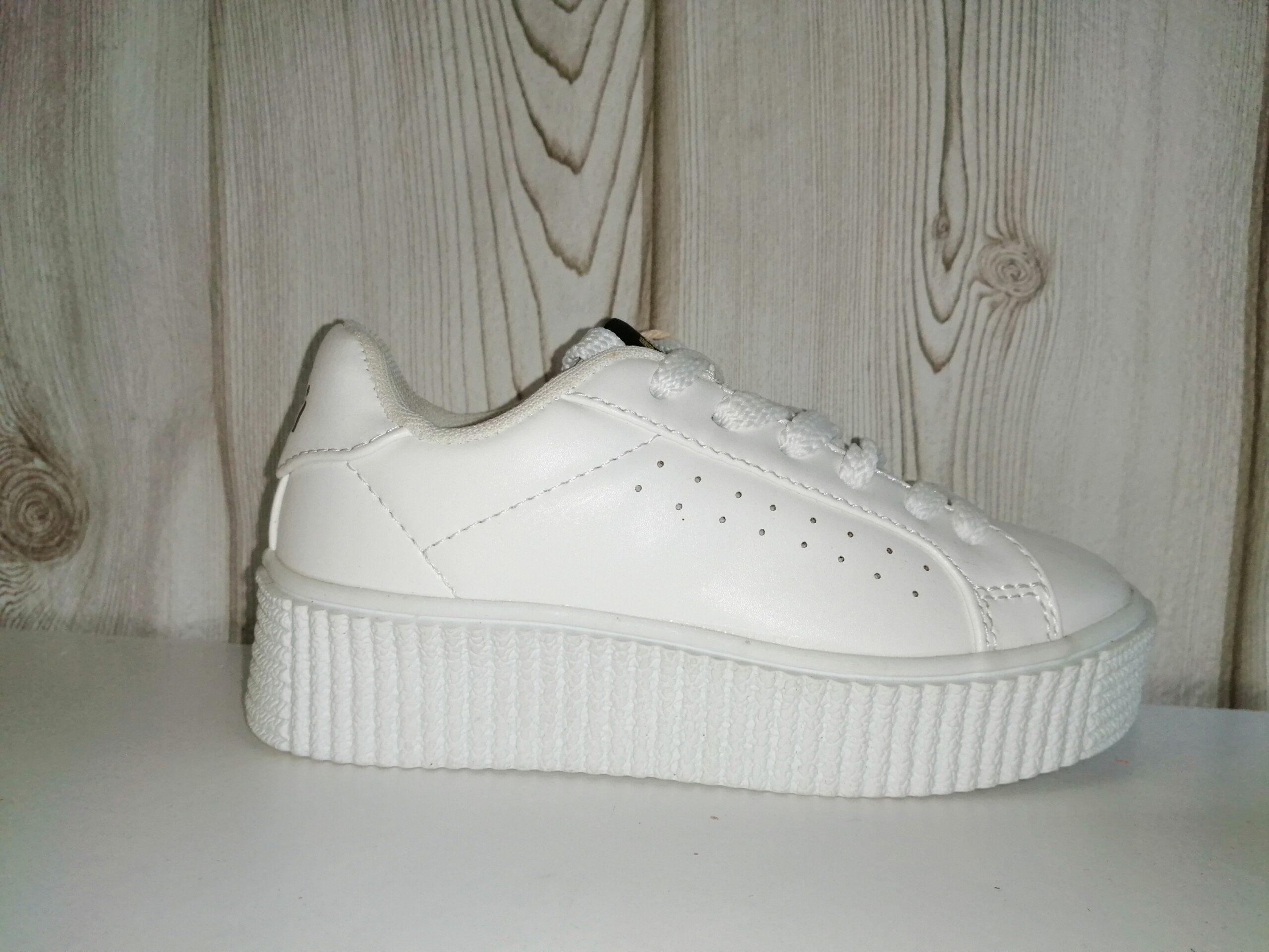 Plataforma deportivo blanco cordones niña XTI 55054