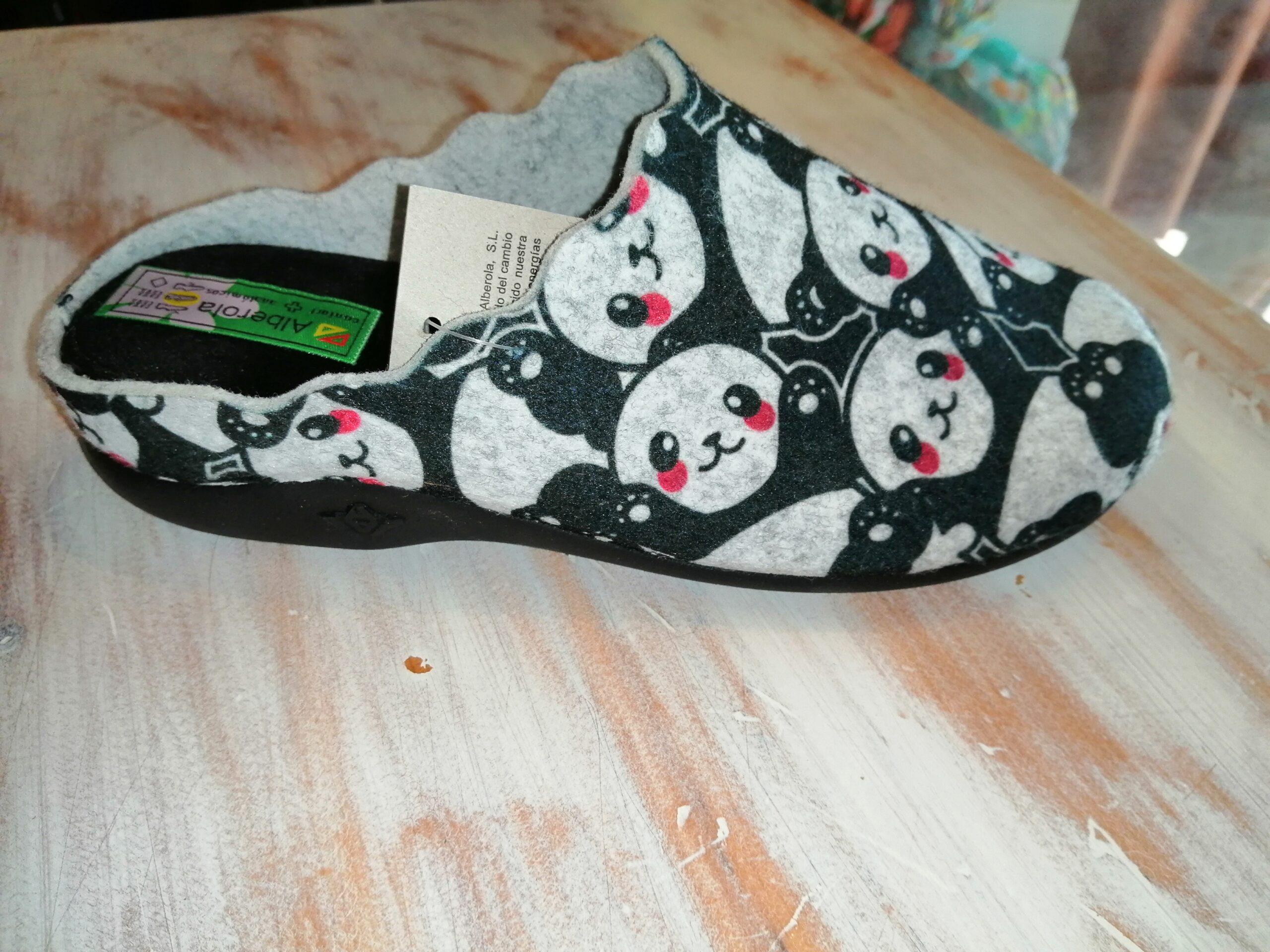 Zapatilla de casa sra Z23247  osos pandas
