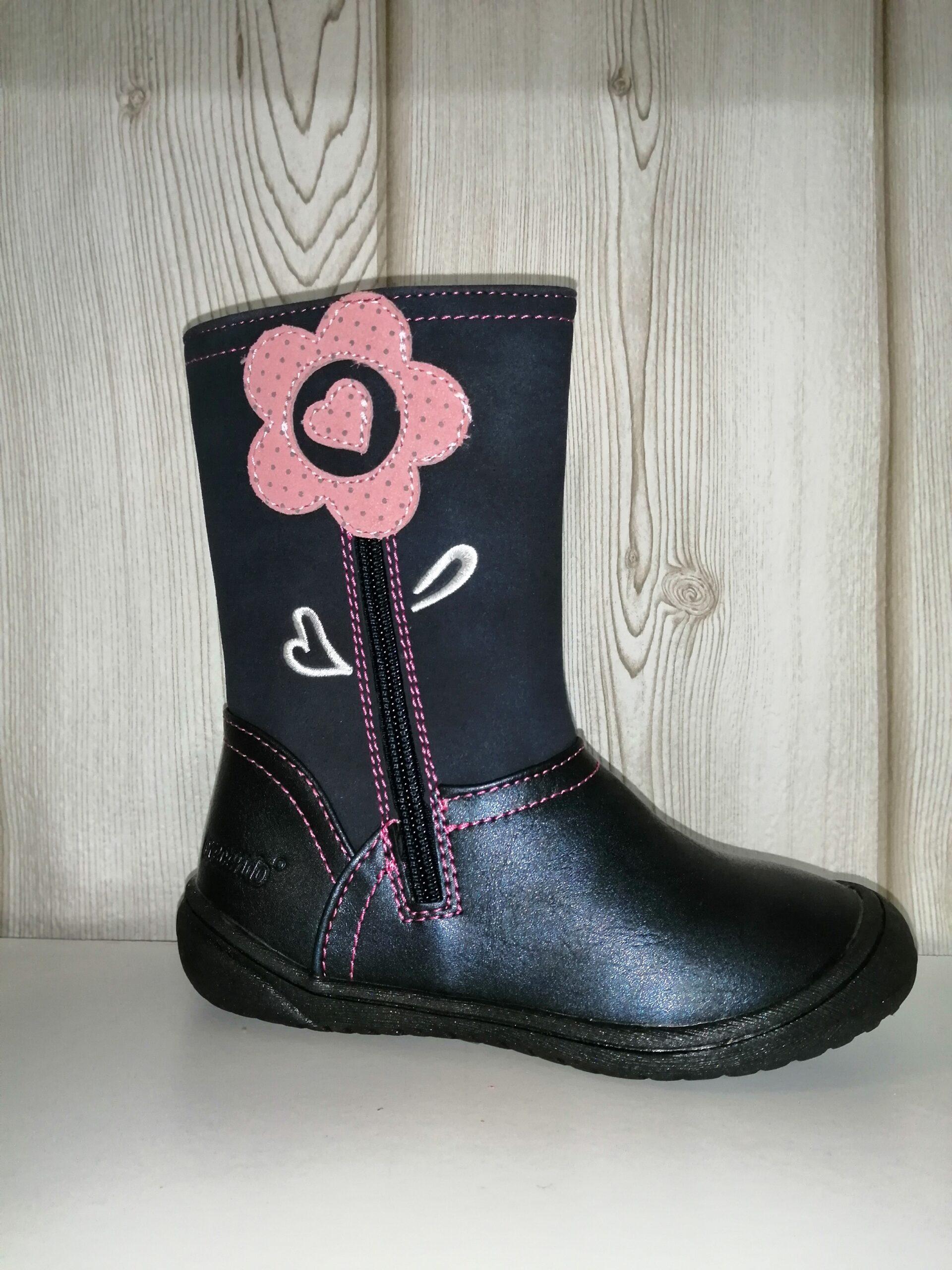 1807 Bota alta flor rosa CRECIENDO