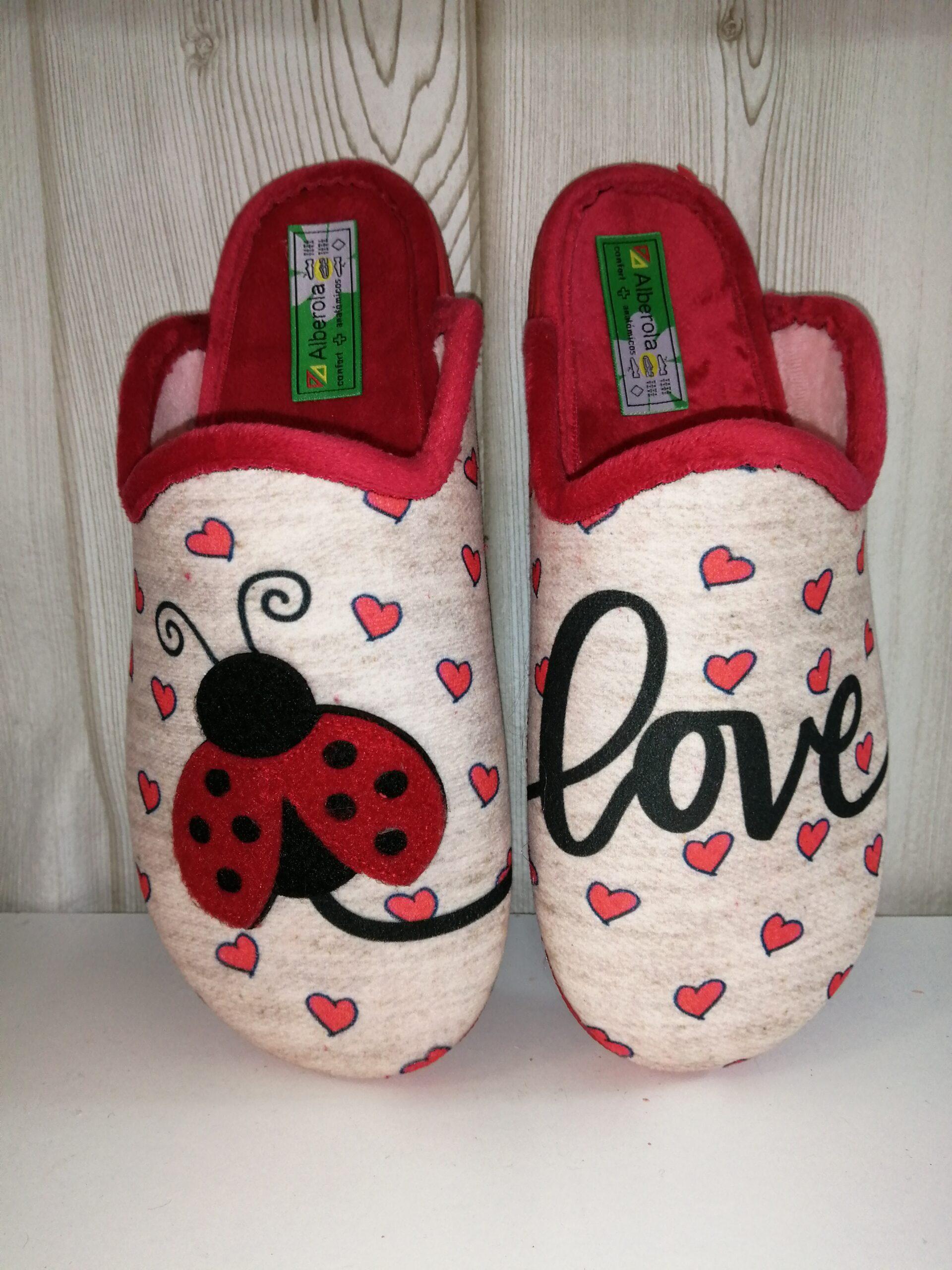 Zapatilla de casa sra A24124 Mariquita love