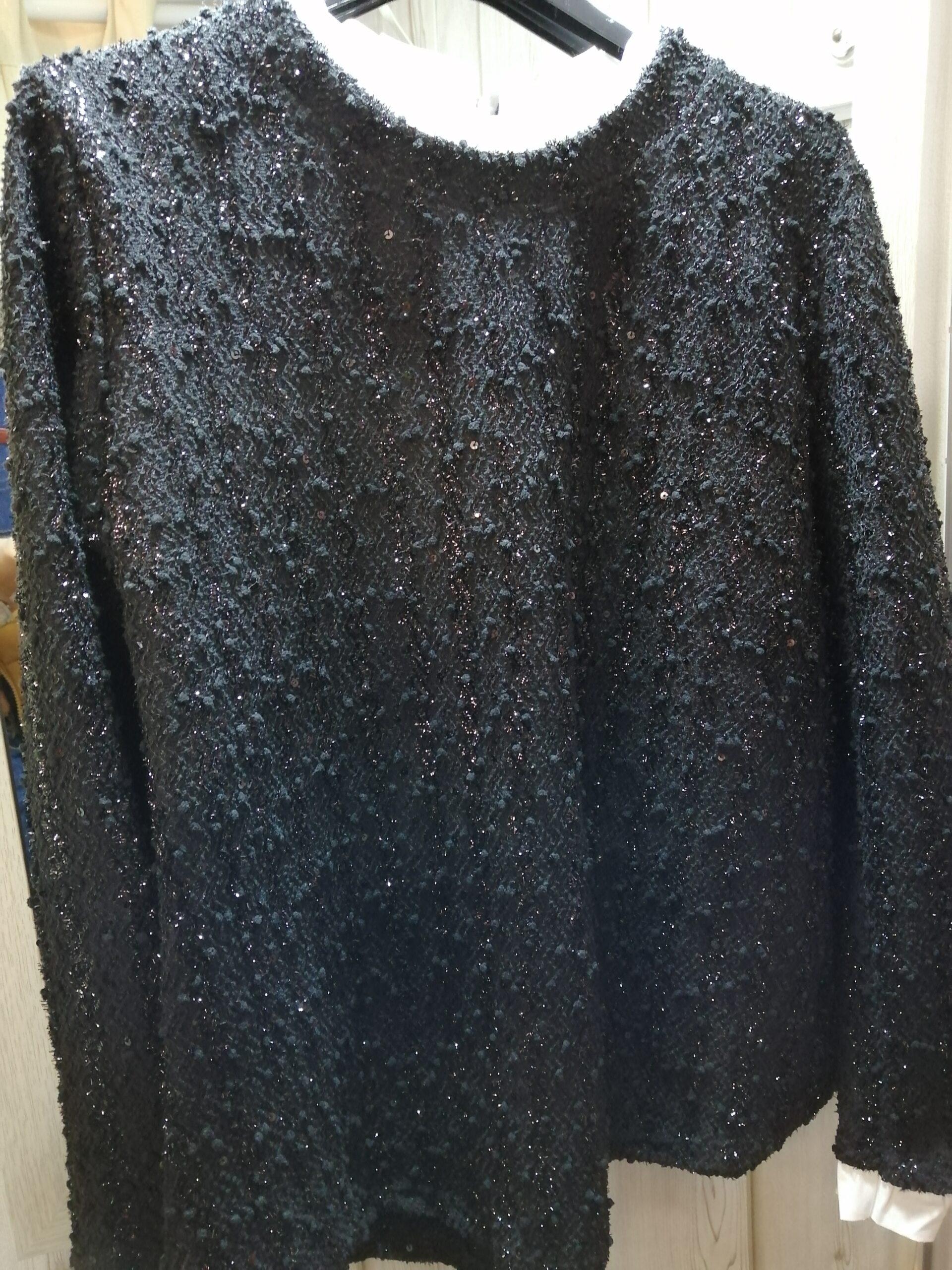 Jersey negro brillo P654