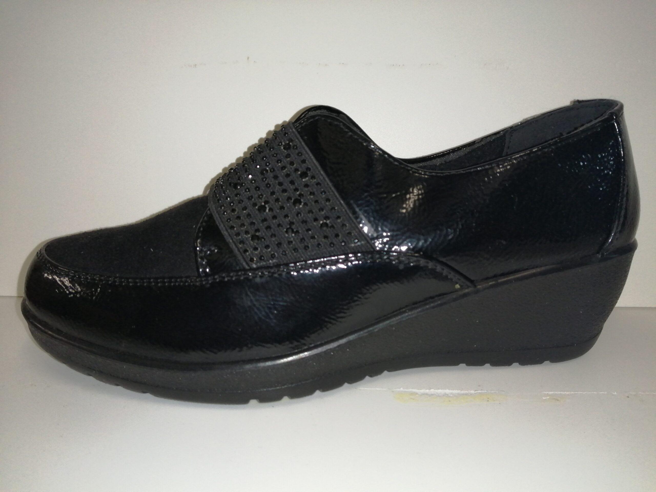 Zapato sra cuña negro YHL13998
