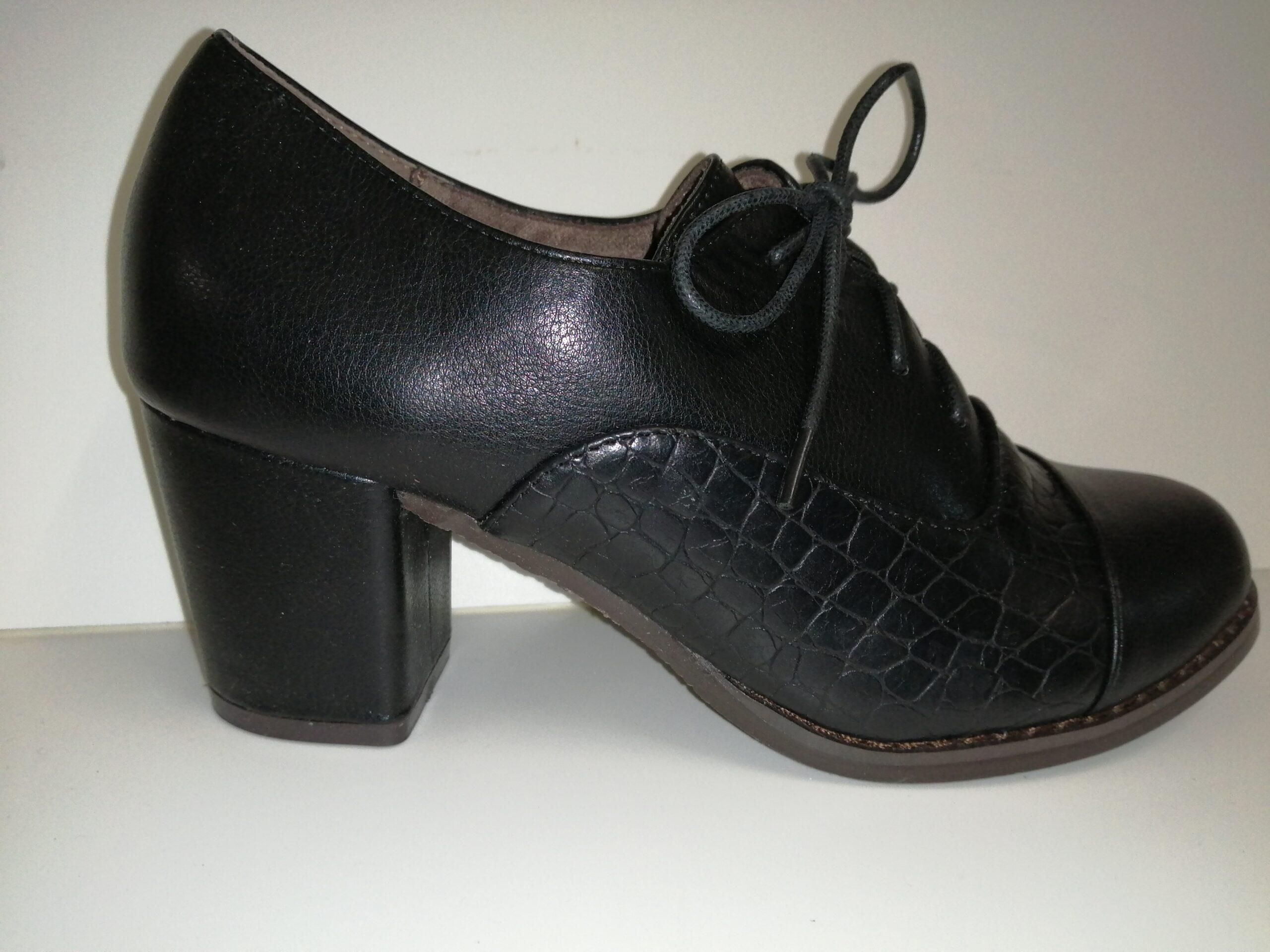 Zapato cordones sra tacón BL1635-2