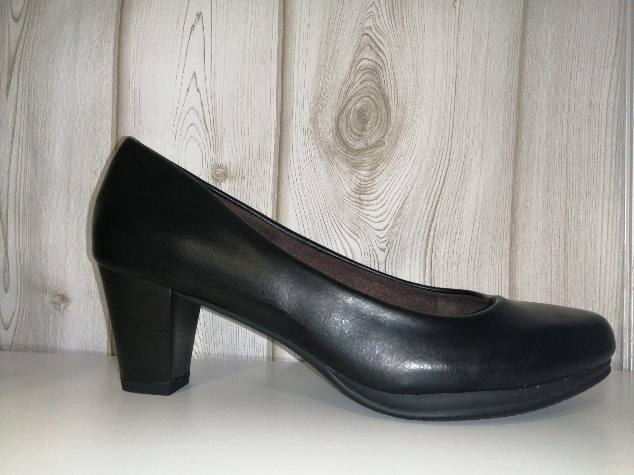 Zapato sra piel   salón negro BL1793-1
